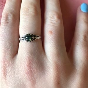 Sterling silver petite ring